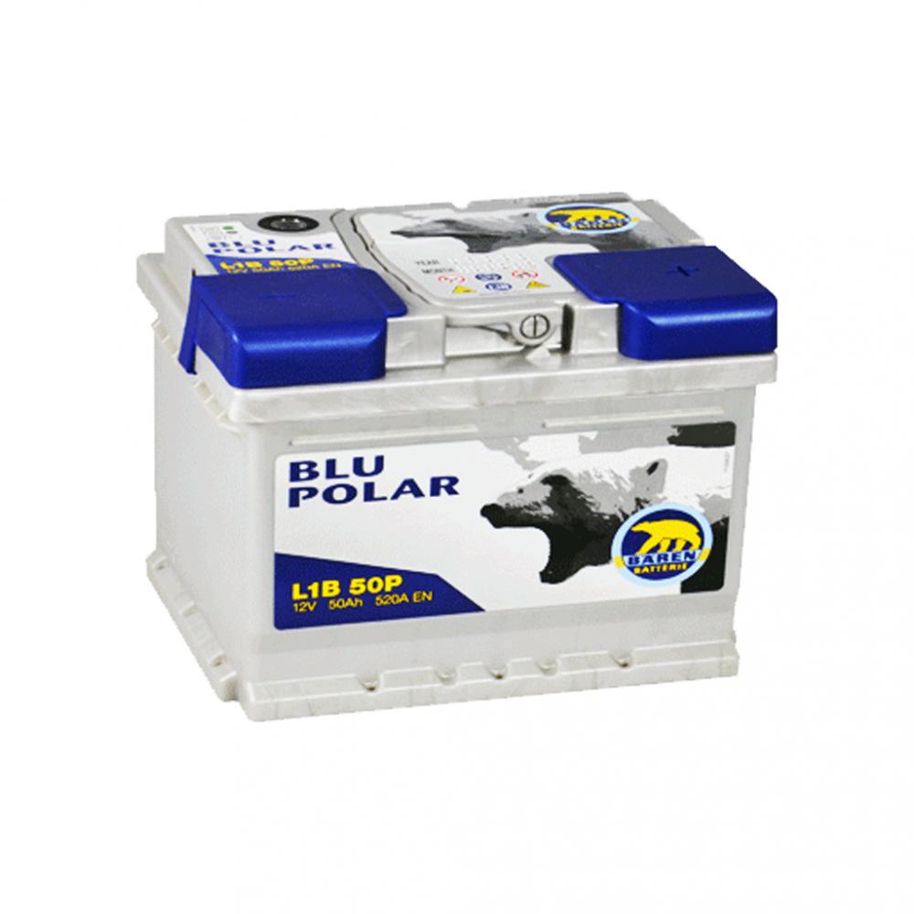 Автомобильный аккумулятор BAREN Blu polar 50Аh 520А R+
