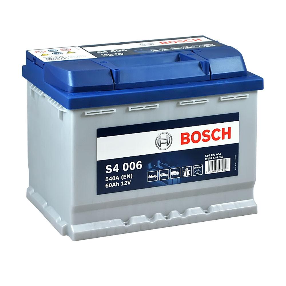 Автомобильный аккумулятор BOSCH (S40 060) 60Ah 540A L+