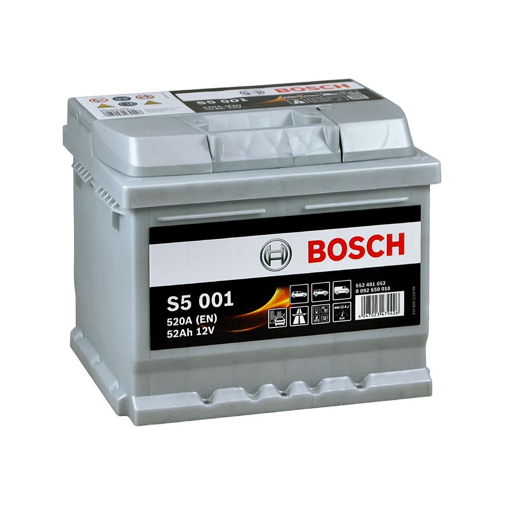 Автомобильный аккумулятор BOSCH (S50 010) 52Ah 520A R+