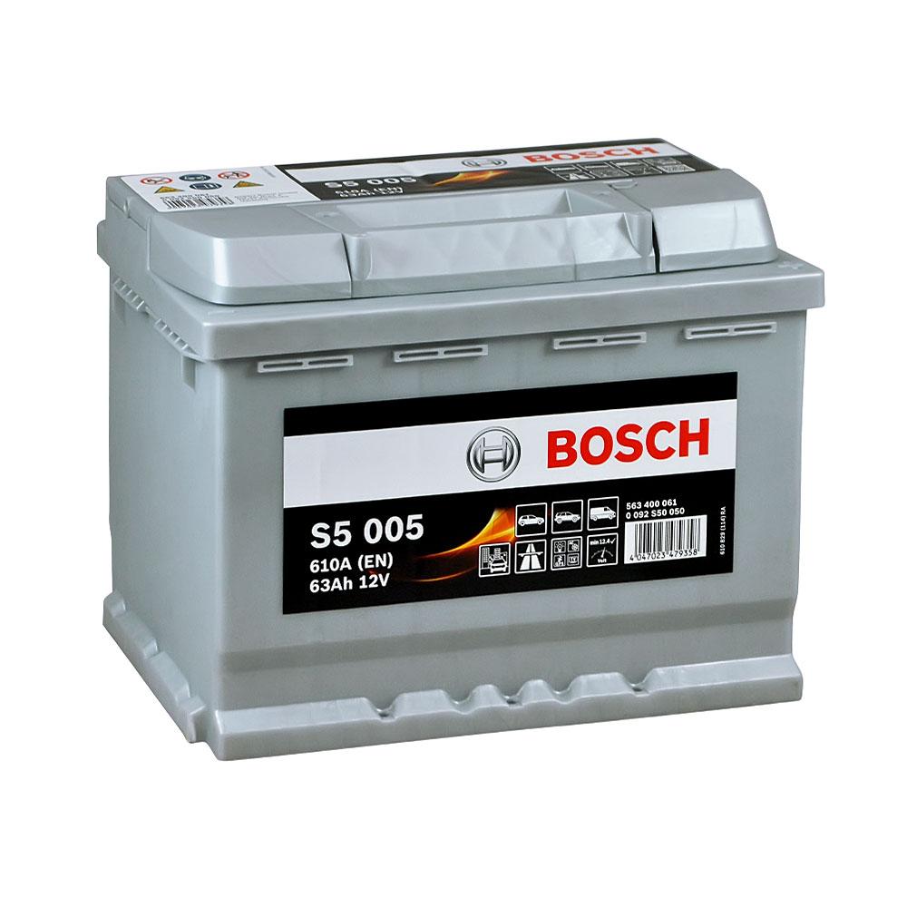 Автомобильный аккумулятор BOSCH (S50 050) 63Ah 610A R+