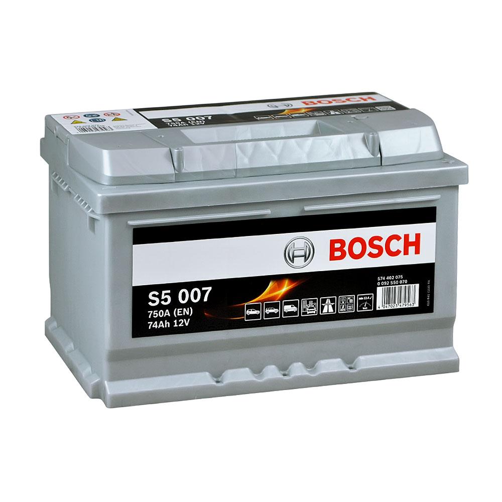 Автомобильный аккумулятор BOSCH (S50 070) 74Ah 750A R+