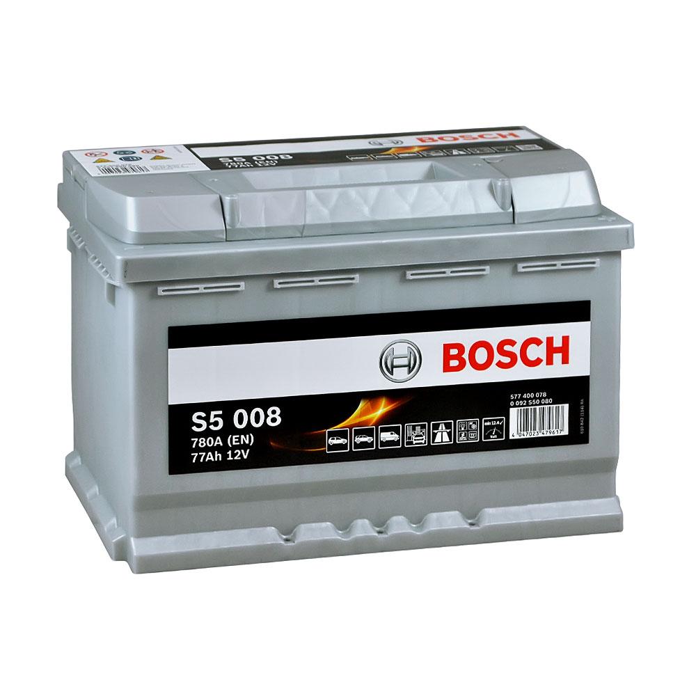 Автомобильный аккумулятор BOSCH (S50 080) 77Ah 780A R+