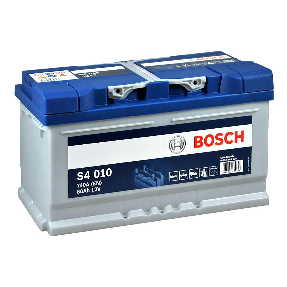 Автомобильный аккумулятор BOSCH (S40 100) 80Ah 740A R+