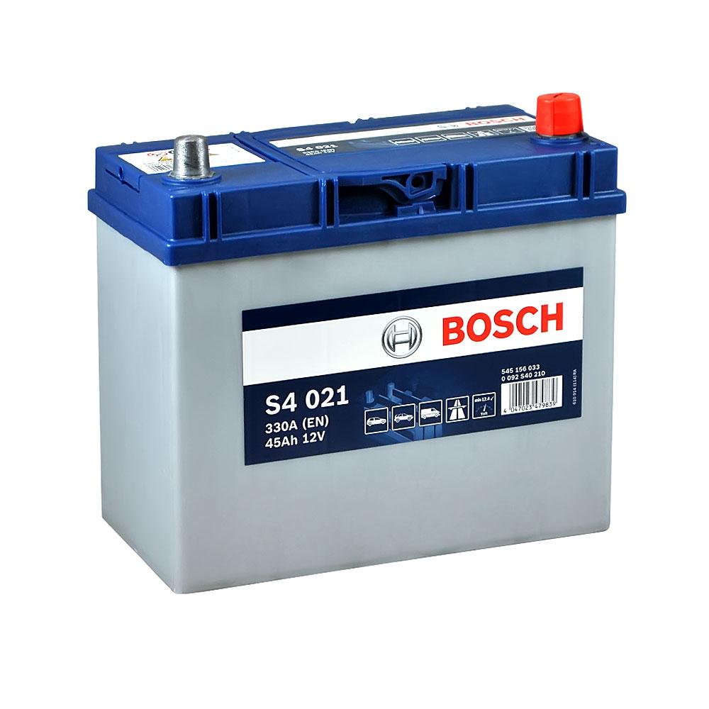 Автомобильный аккумулятор BOSCH (S40 210) Asia 45Ah 330A R+