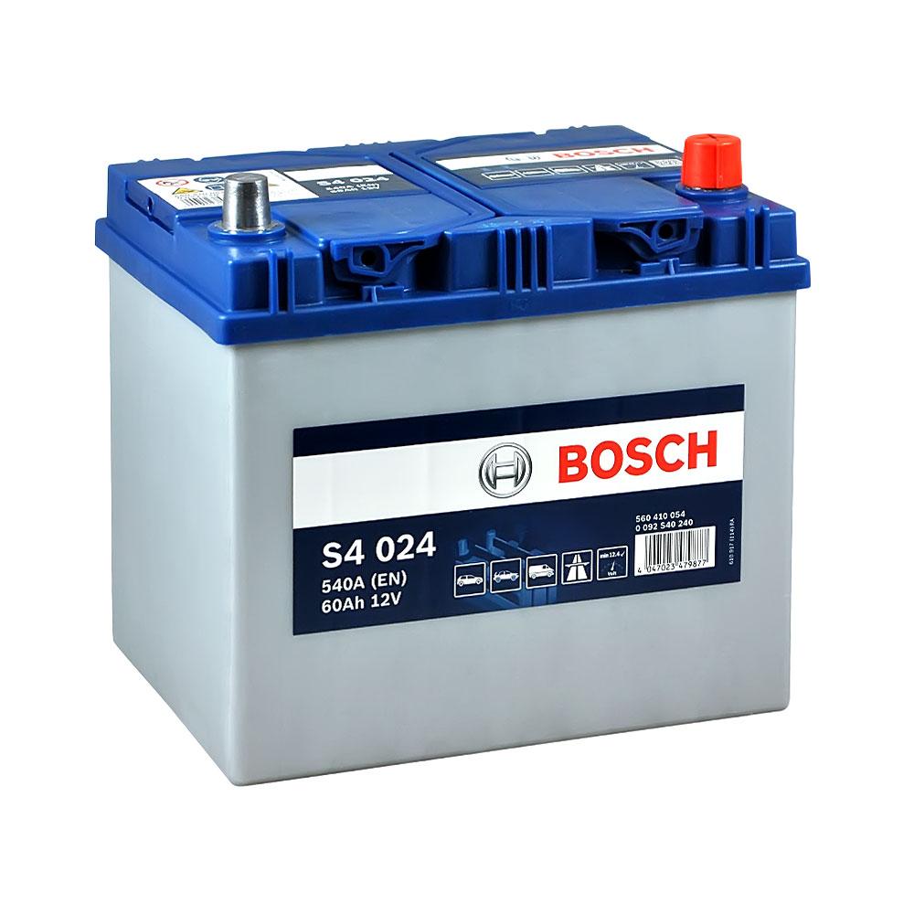 Автомобильный аккумулятор BOSCH (S40 240) Asia 60Ah 540A R+