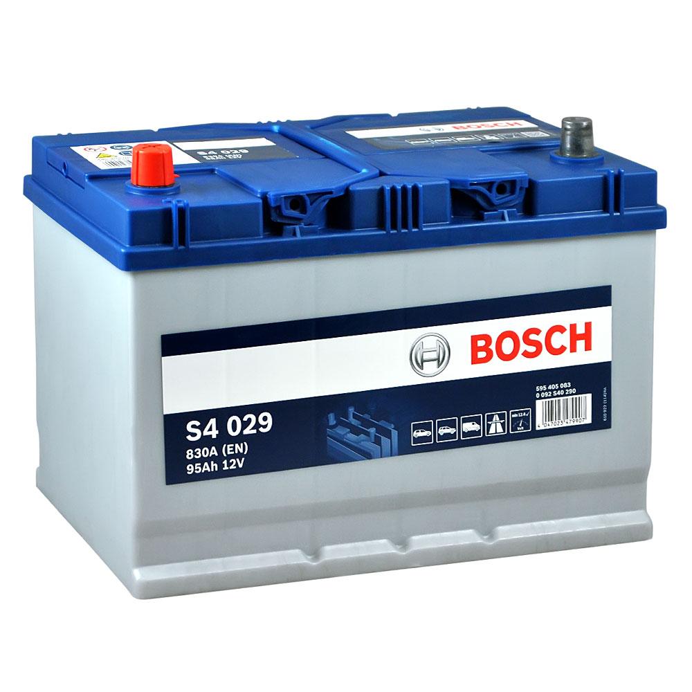 Автомобильный аккумулятор BOSCH (S40 290) Asia 95Ah 830A L+
