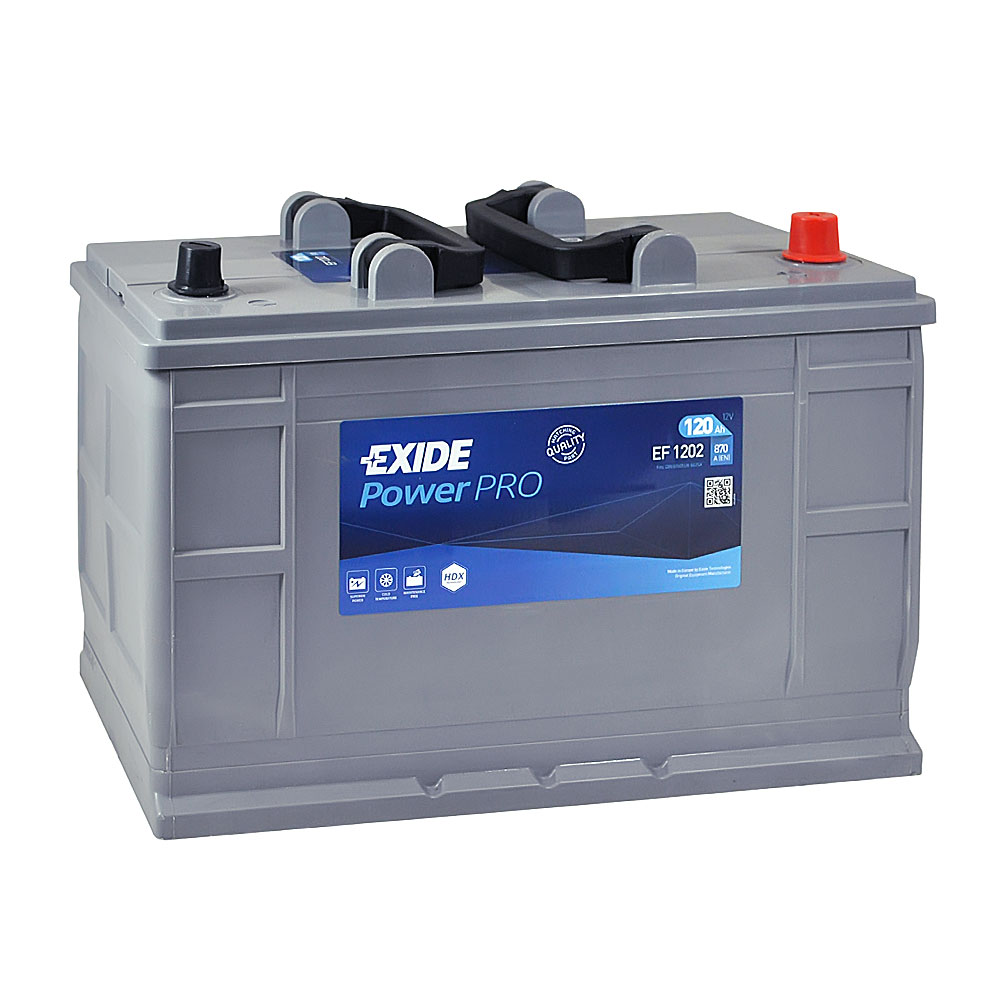 Автомобильный аккумулятор EXIDE (EF1202) Power PRO 120 Аh 870A