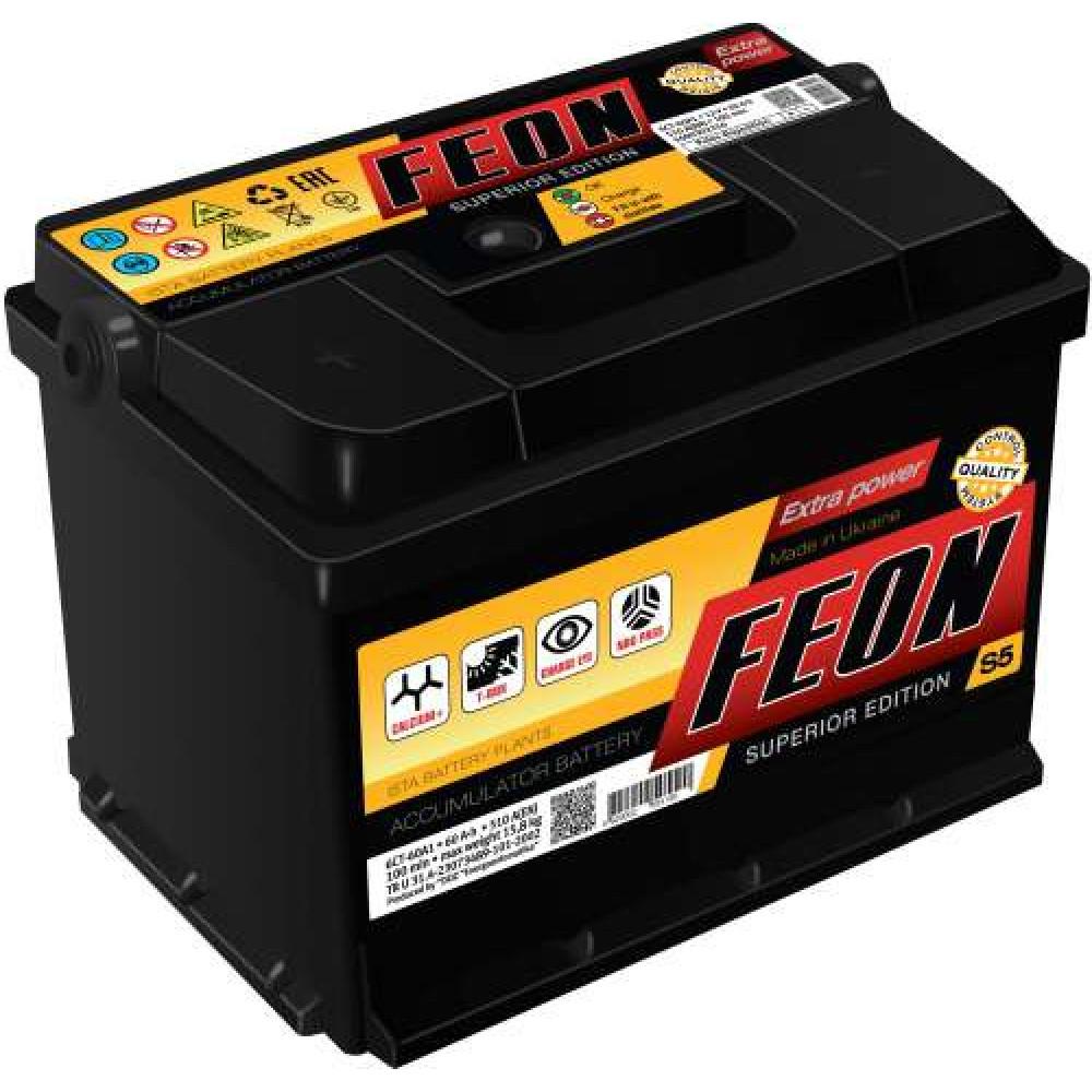 Автомобильный аккумулятор FEON 60Ah 540А L+