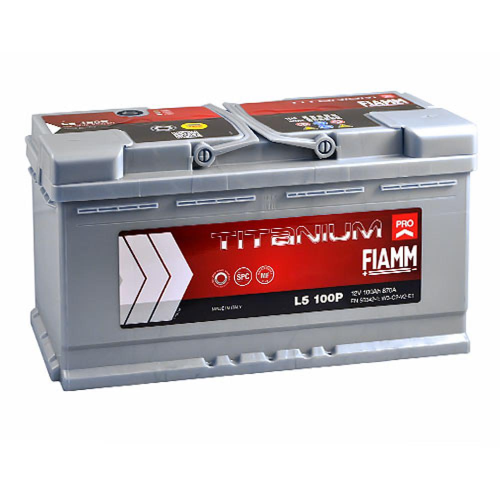 Автомобильный аккумулятор FIAMM Titanium Pro 100Аh 870А R+