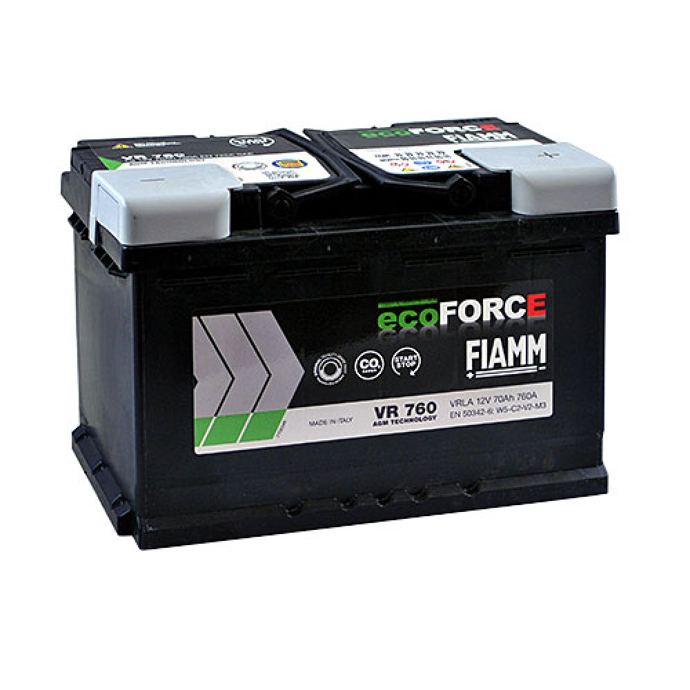 Автомобильный аккумулятор FIAMM Ecoforce AGM 70Аh 760А R+