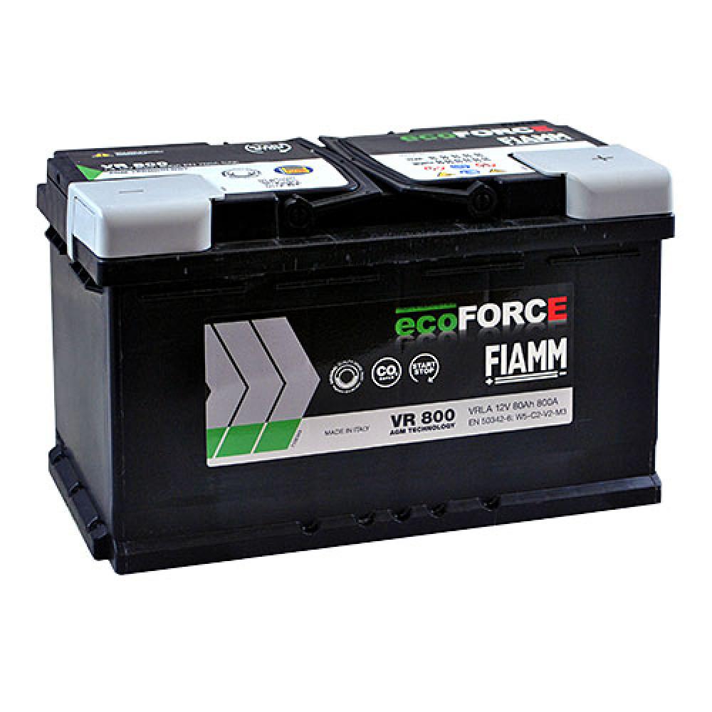 Автомобильный аккумулятор FIAMM Ecoforce AGM 80Аh 800А R+
