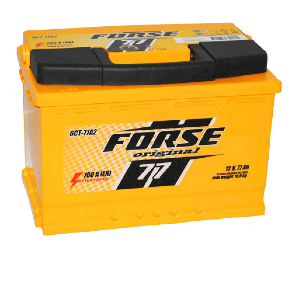 Автомобильный аккумулятор FORSE 77Ah 760A R+