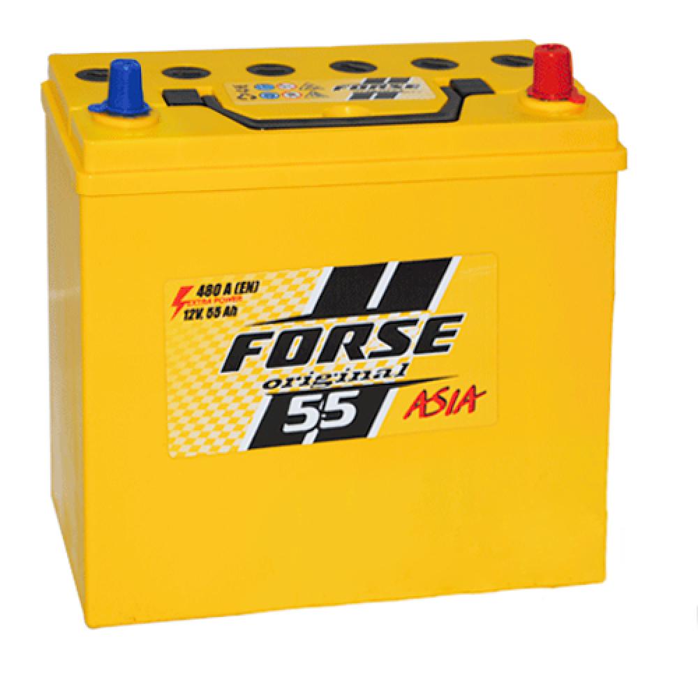 Автомобильный аккумулятор FORSE Asia MF 55Ah 480A R+