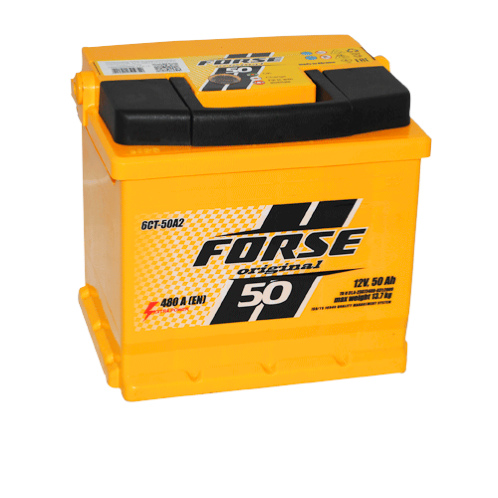 Автомобильный аккумулятор FORSE 50Аh 480А L+