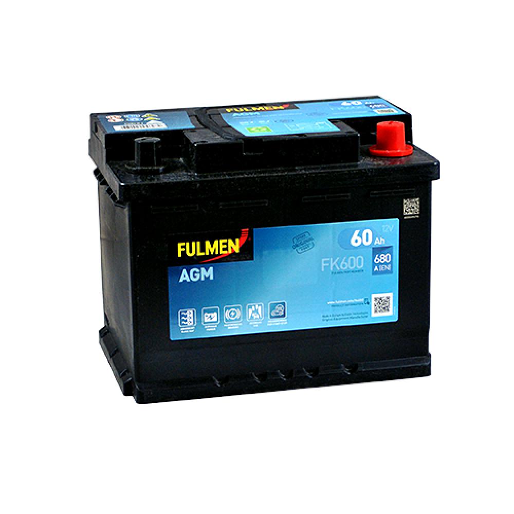 Автомобильный аккумулятор FULMEN Start-Stop AGM 60Ah 680A R+