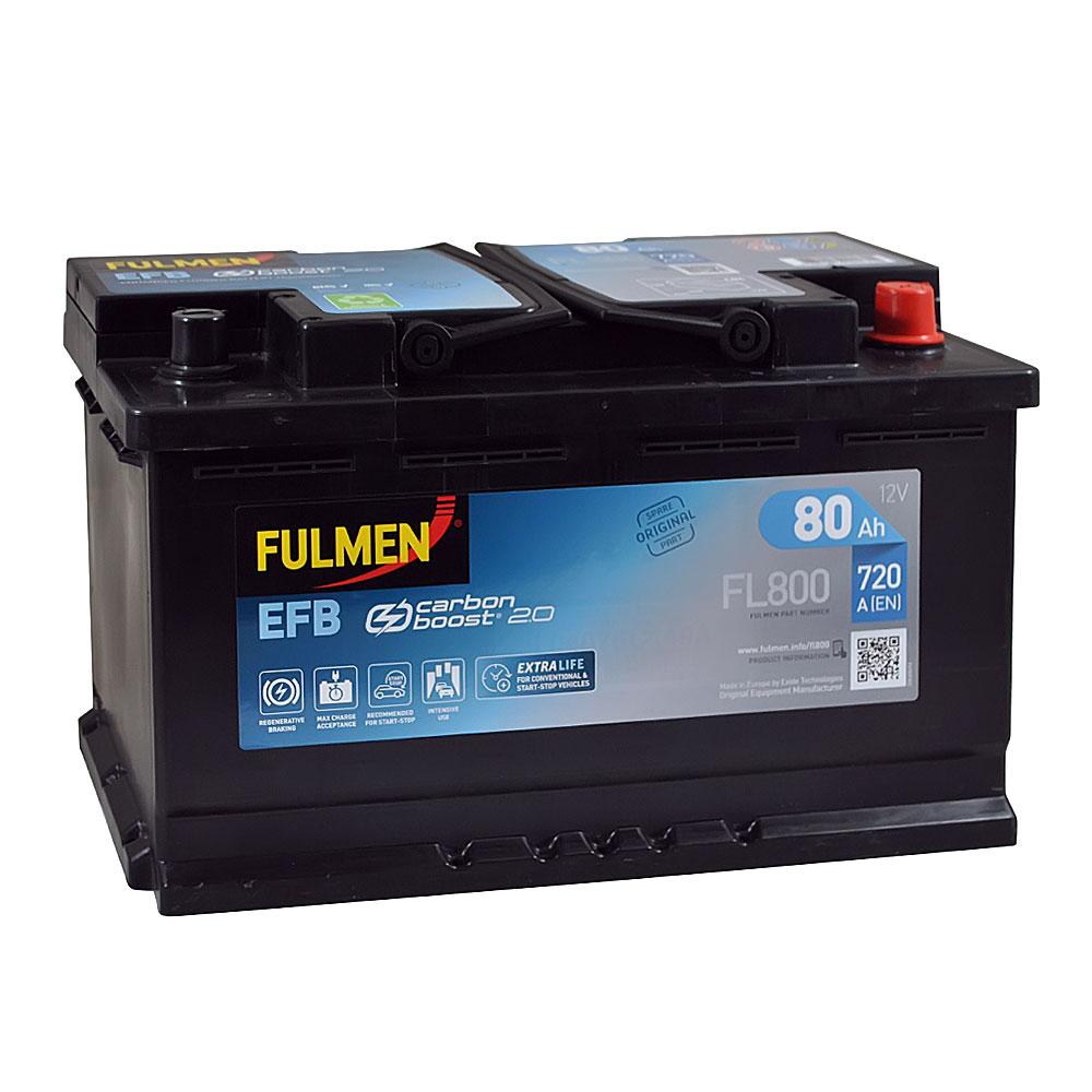 Автомобильный аккумулятор FULMEN Start-Stop EFB 80Ah 720A R+