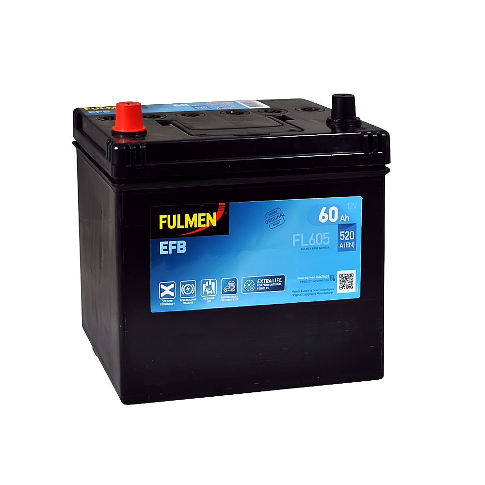 Автомобильный аккумулятор FULMEN Start-Stop EFB Asia 60Ah 520A L+