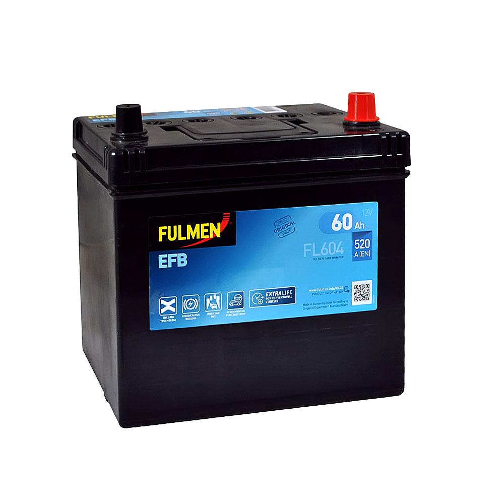 Автомобильный аккумулятор FULMEN Start-Stop EFB Asia 60Ah 520A R+