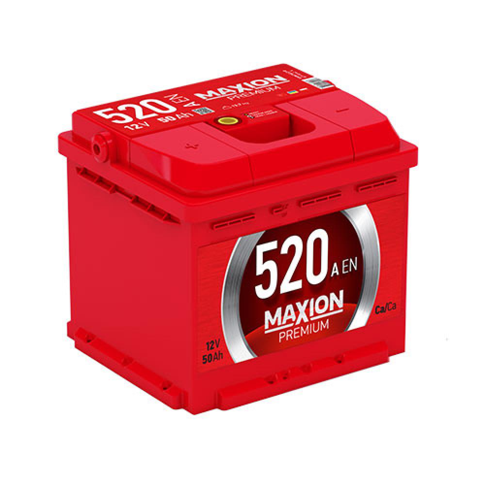 Автомобильный аккумулятор MAXION Premium 50 Аh 520A L+