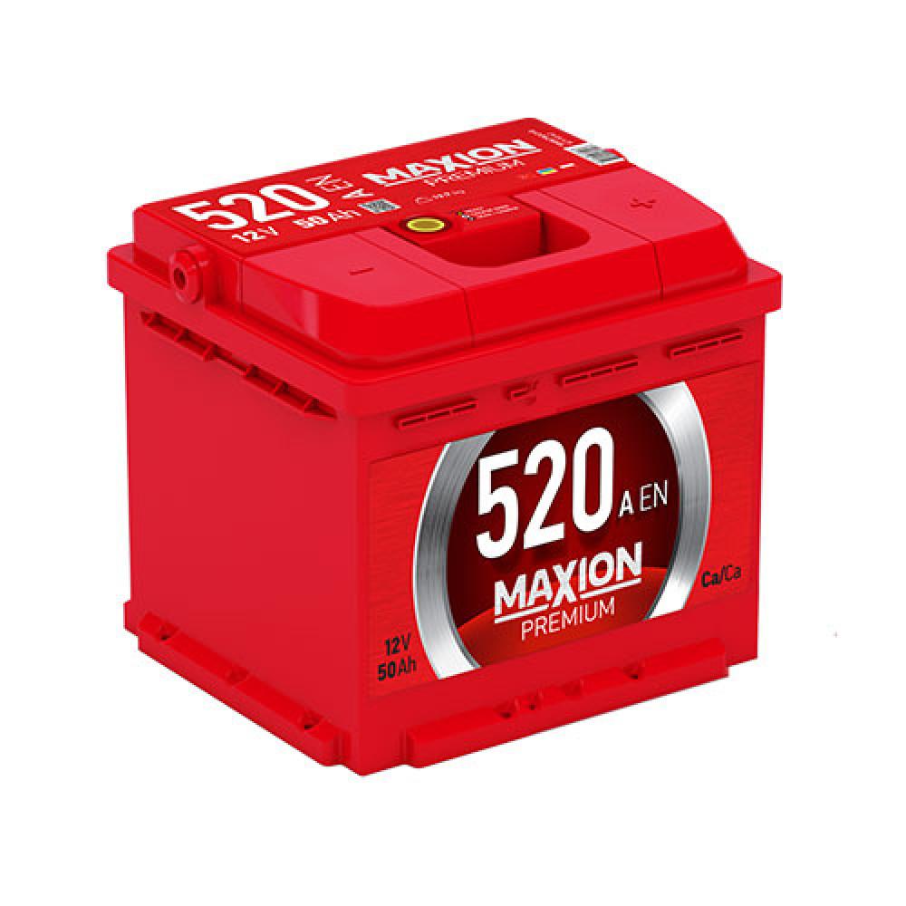 Автомобильный аккумулятор MAXION Premium 50 Аh 520A R+