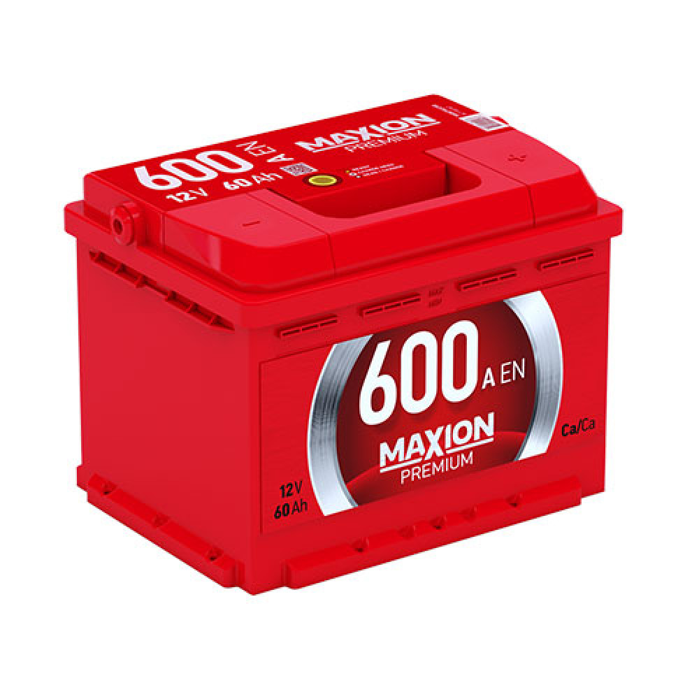 Автомобильный аккумулятор MAXION Premium 60 Аh 600A R+
