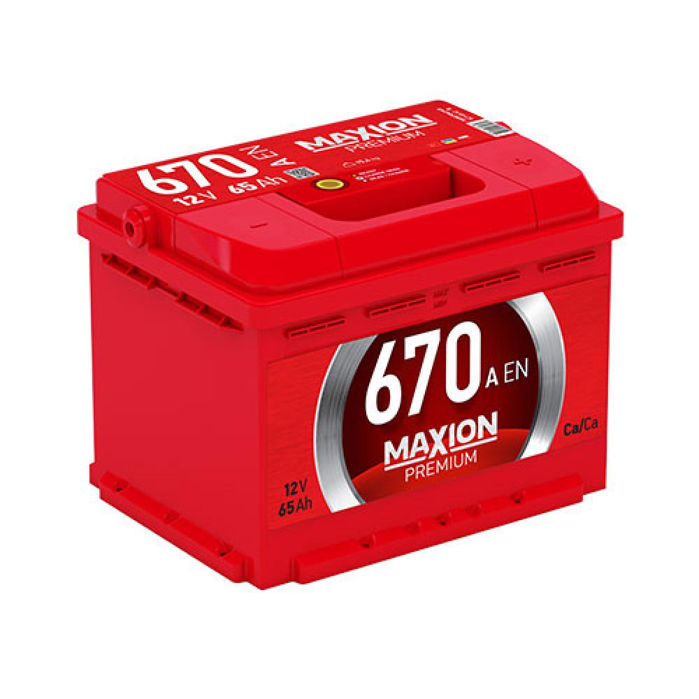 Автомобильный аккумулятор MAXION Premium 65 Аh 670A R+