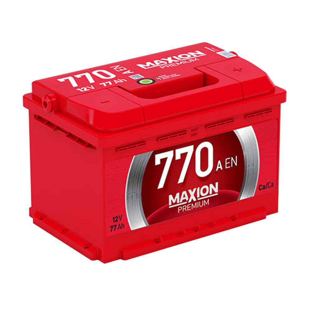Автомобильный аккумулятор MAXION Premium 77Аh 770A R+