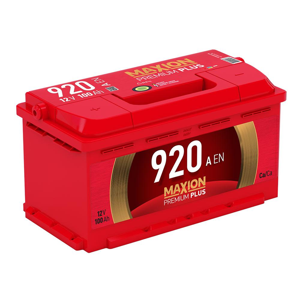 Автомобильный аккумулятор MAXION Premium Plus 100Аh 920A R+