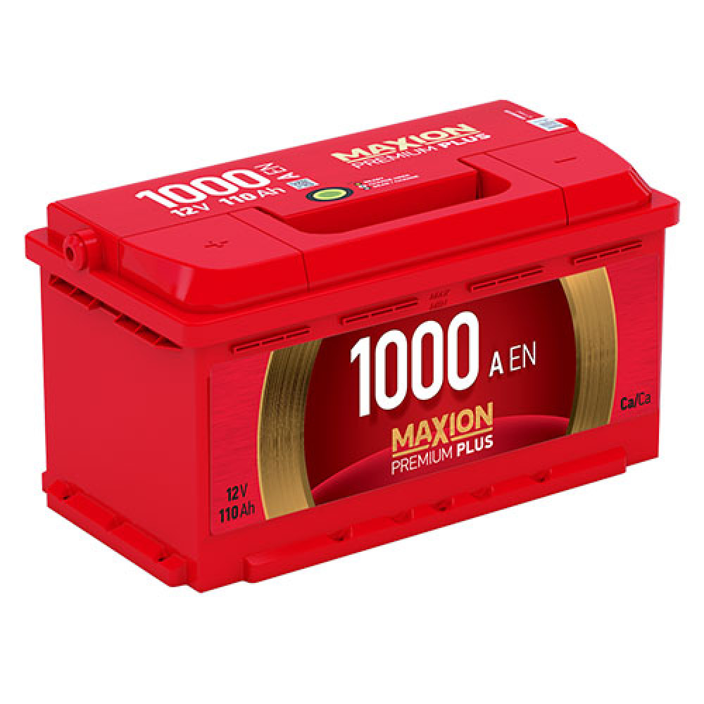Автомобильный аккумулятор MAXION Premium Plus 110Аh 1000A R+