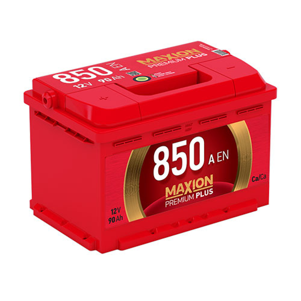 Автомобильный аккумулятор Maxion Premium Plus 6СТ 850А R+ 90 Ач