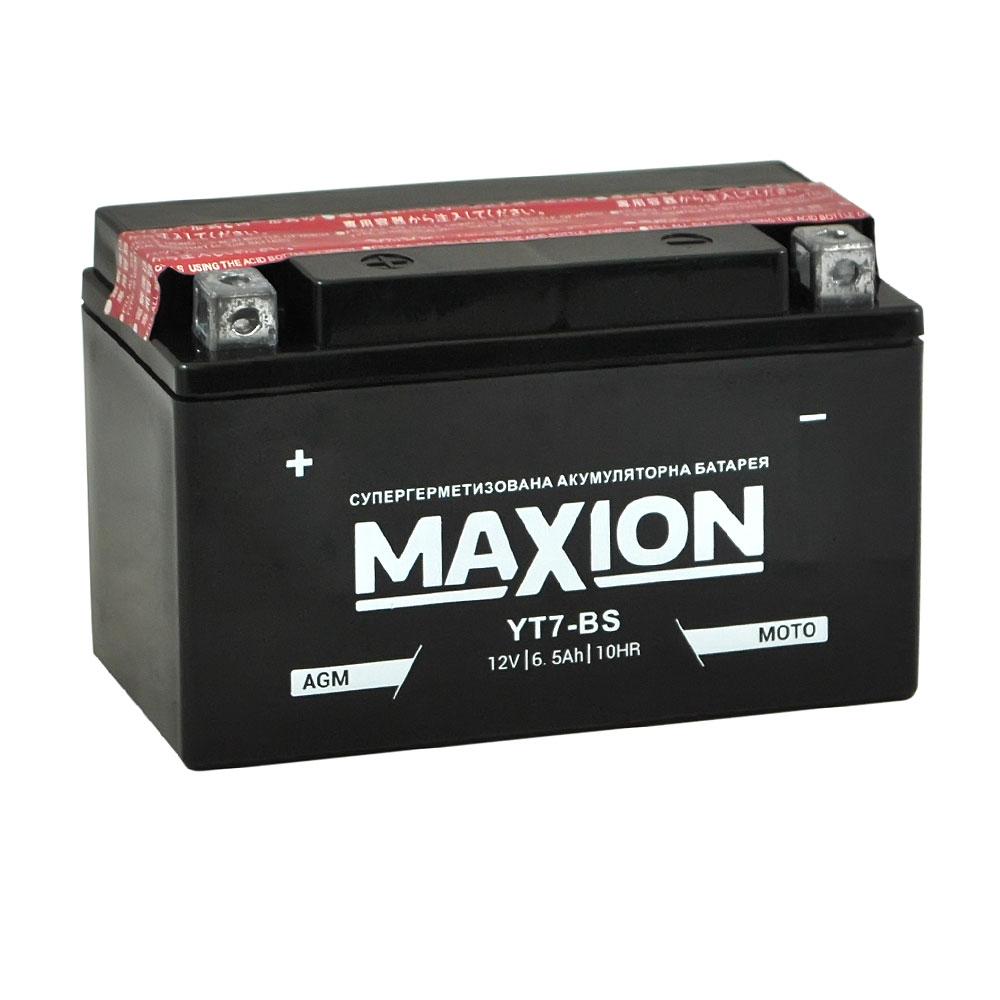 Мото аккумулятор MAXION AGM YT 7-BS (12V, 6,5A)