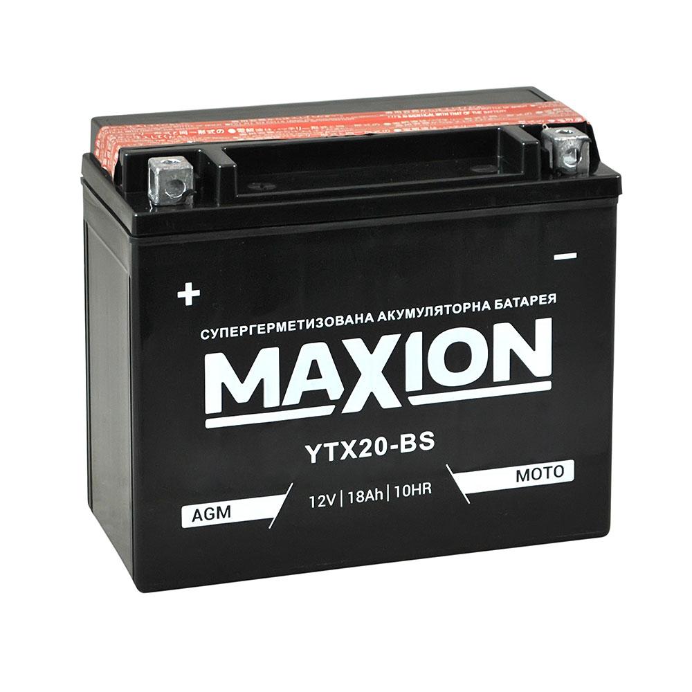 Мото аккумулятор MAXION AGM YTX 20-BS (12V, 18A)