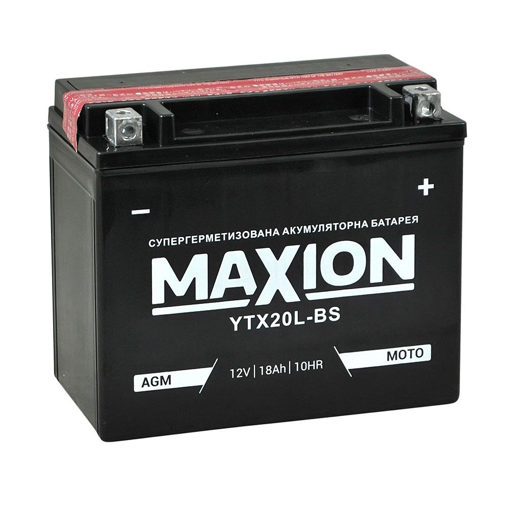 Мото аккумулятор MAXION AGM YTX 20L-BS (12V, 18A)