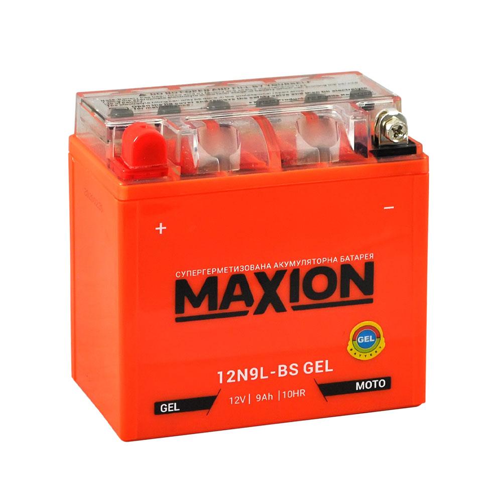 Мото аккумулятор MAXION Gel 12N 9L-BS (12V, 9A)