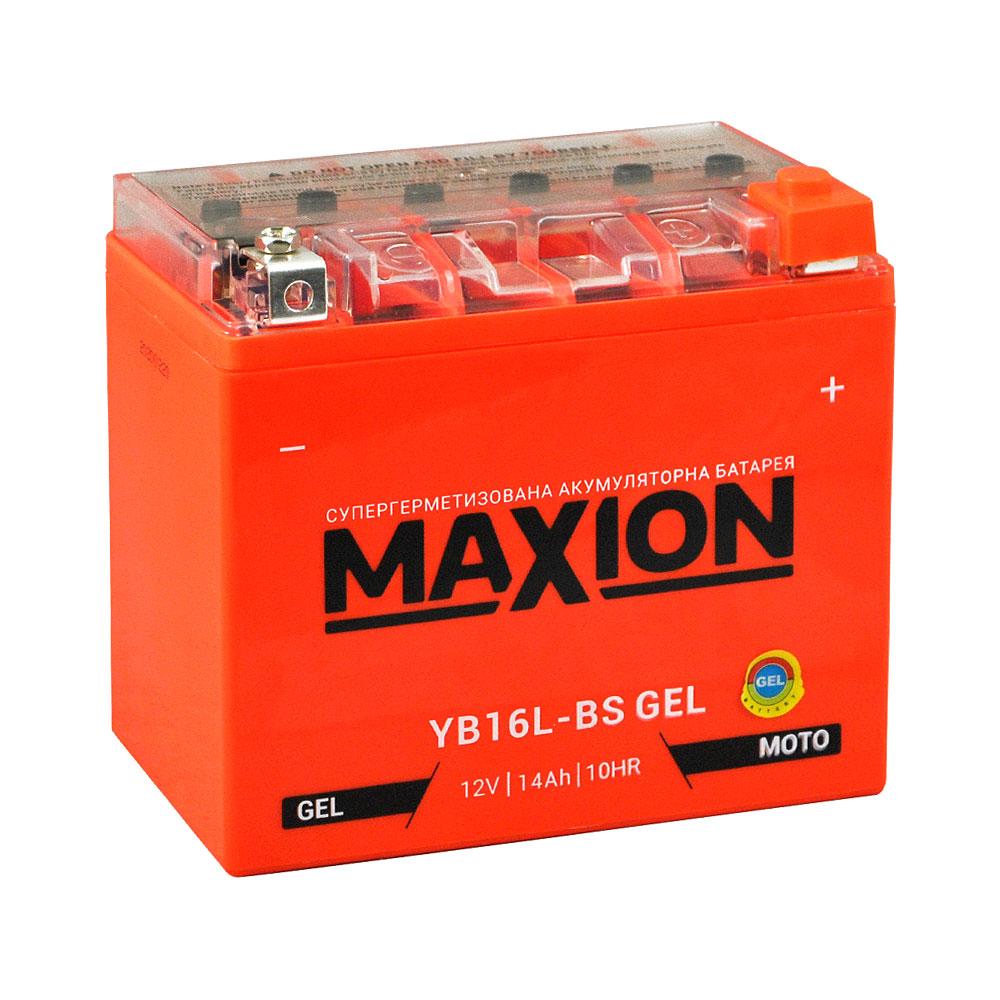 Мото аккумулятор MAXION Gel YB 16L-BS (12V, 14A)