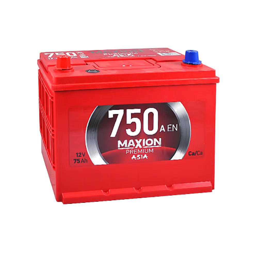 Автомобильный аккумулятор Maxion 6СТ 750А L+ 75 Ач