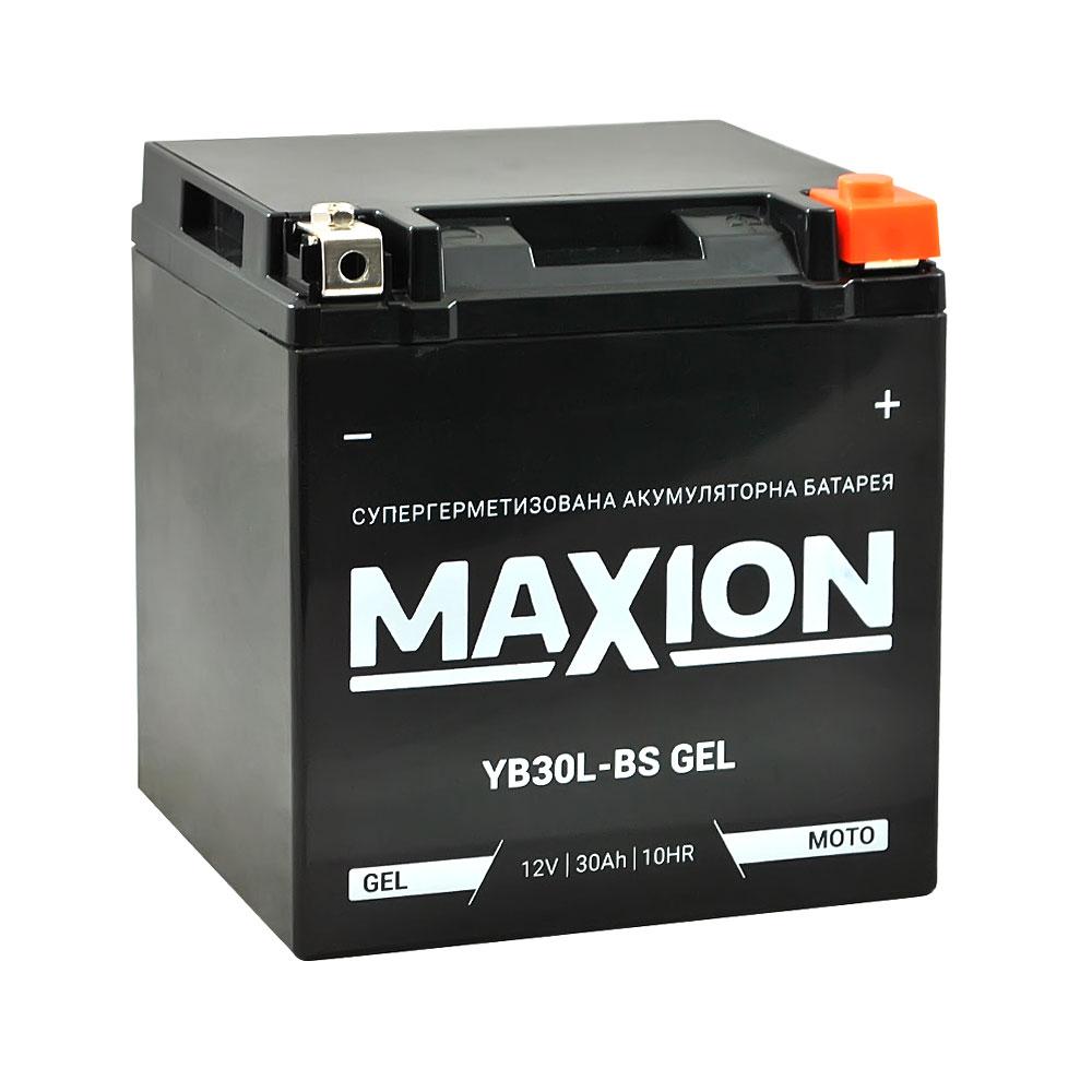 Мото аккумулятор MAXION Gel YB 30L-BS (12V, 30A)