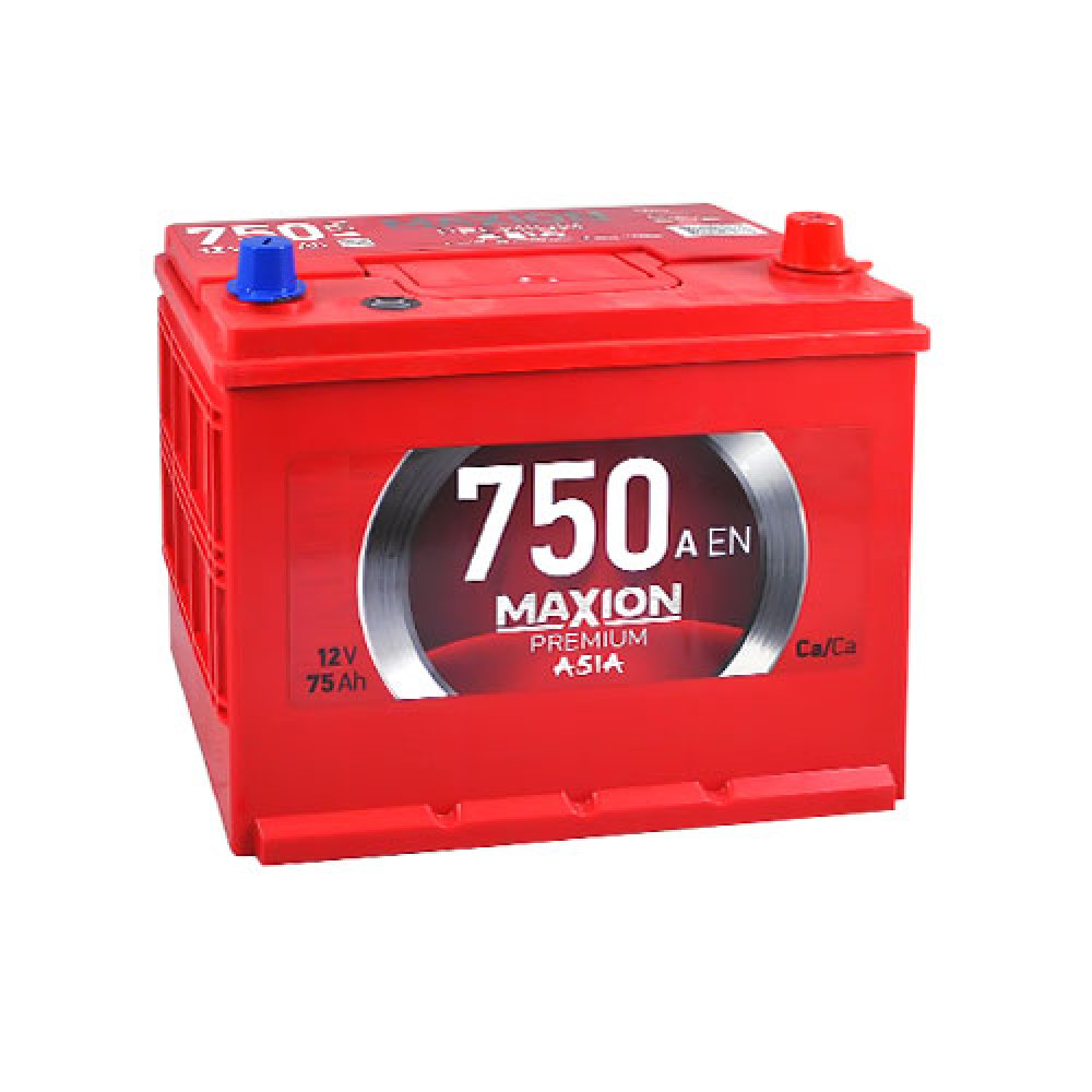 Автомобильный аккумулятор Maxion 6СТ 750А R+ 75 Ач
