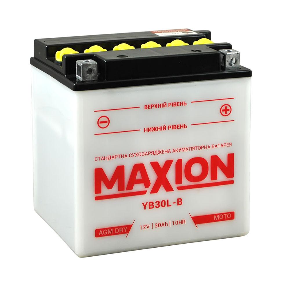 Мото аккумулятор MAXION YB 30L-B (12V, 30A)