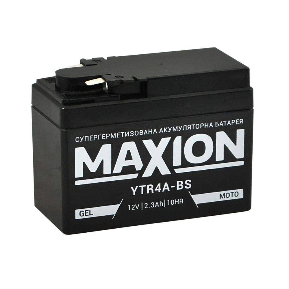 Мото аккумулятор MAXION YTR 4A-BS (12V, 2,3A)