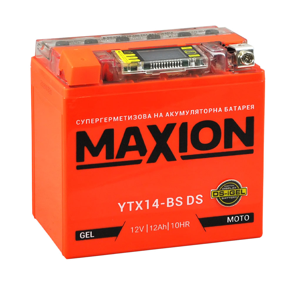 Мото аккумулятор MAXION YTX 14-BS DS (DS-iGEL) (12V, 12A)