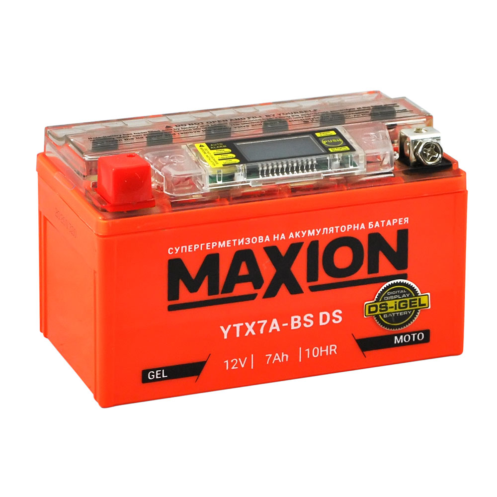 Мото аккумулятор MAXION YTX 7A-BS DS (DS-iGEL) (12V, 7A)