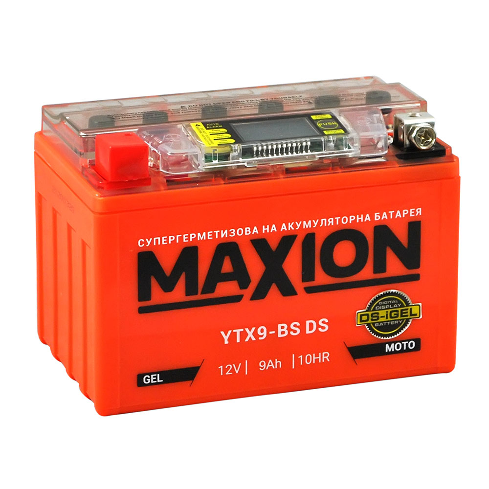Мото аккумулятор MAXION YTX 9-BS DS (DS-iGEL) (12V, 8A)