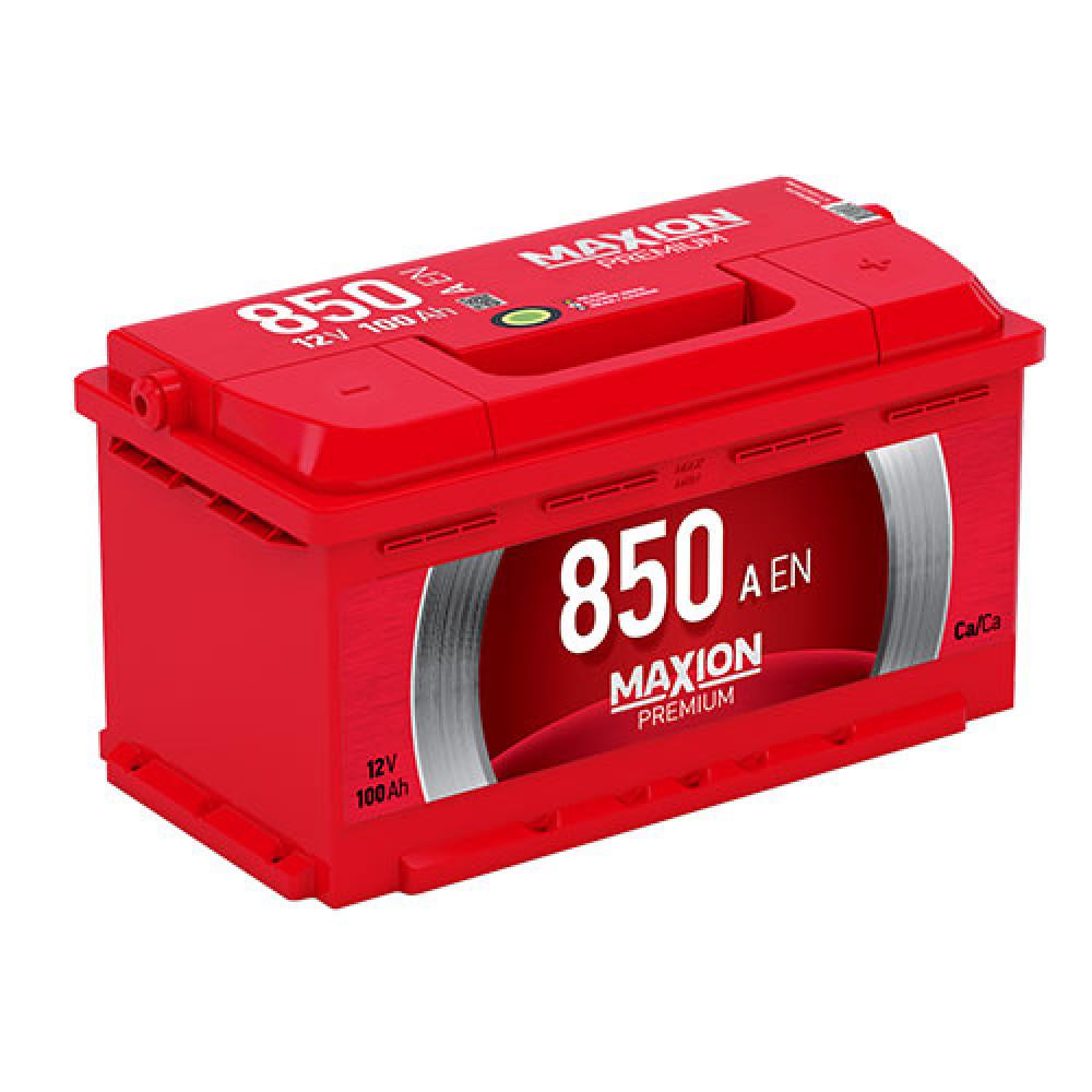 Автомобильный аккумулятор MAXION Premium 100Аh 850A R+