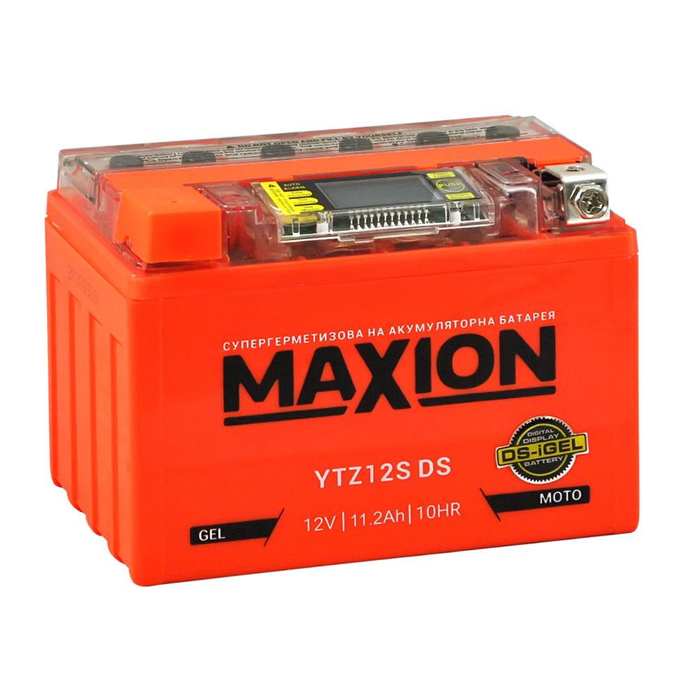 Мото аккумулятор MAXION YTZ 12S DS (DS-iGEL) (12V, 18A)