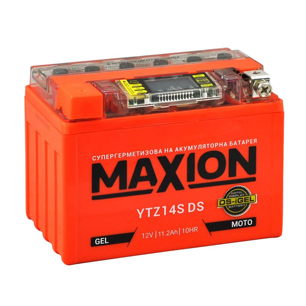 Мото аккумулятор MAXION YTZ 14S DS (DS-iGEL) (12V, 11.2A)