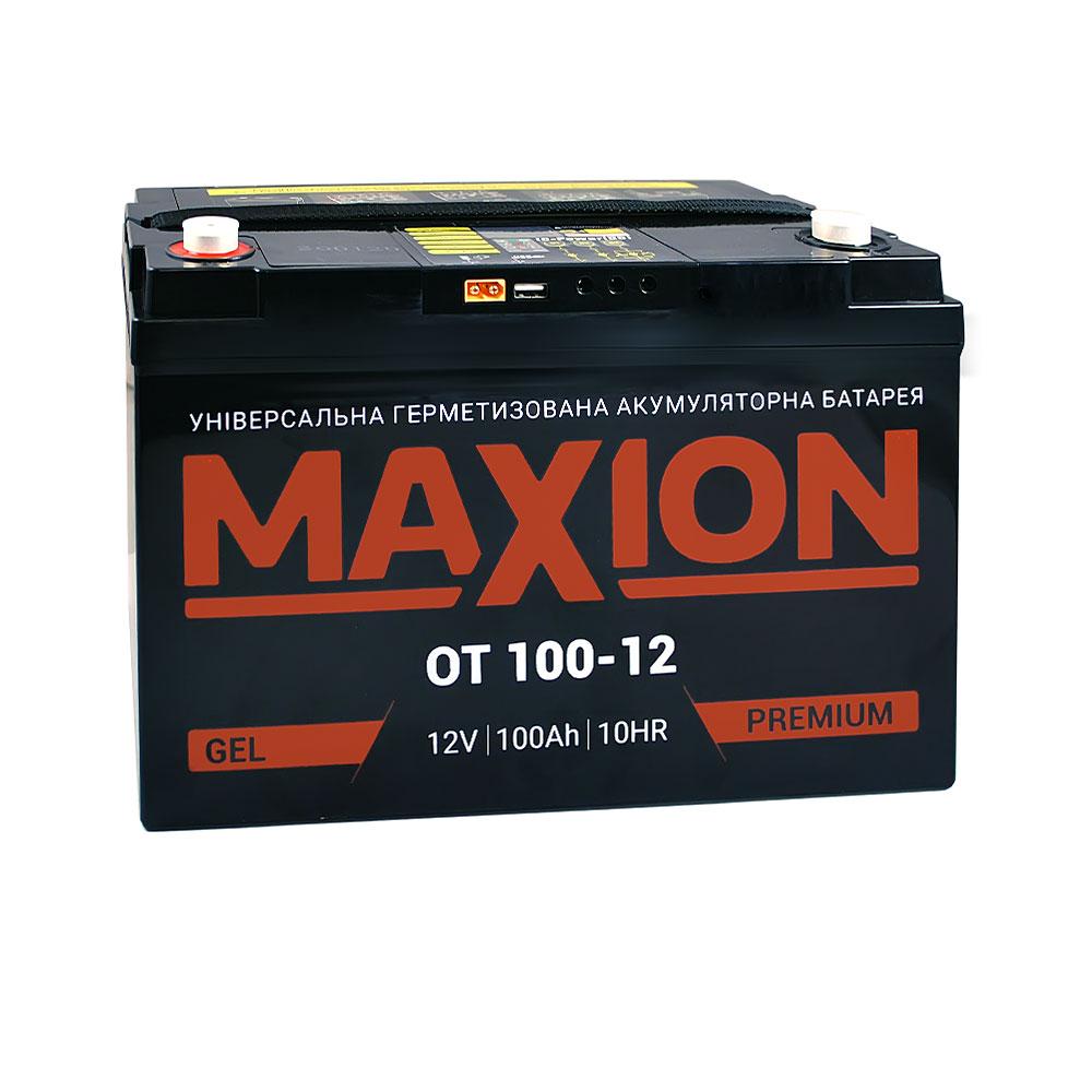 Промышленный аккумулятор MAXION AGM 12-100 DC (12V,100Ah)