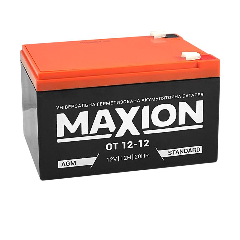 Промышленный аккумулятор MAXION AGM 12-12 (12V,12Ah)