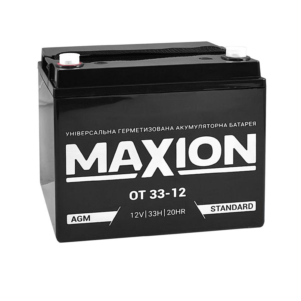 Промышленный аккумулятор MAXION AGM 12-33 (12V,33Ah)
