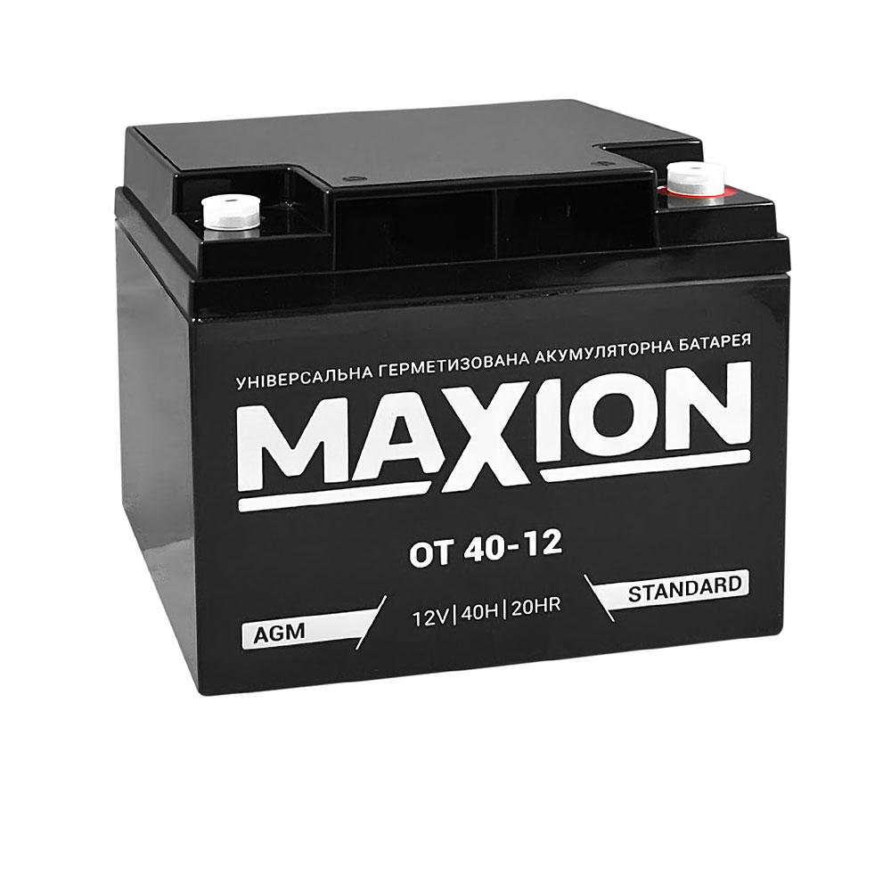 Промышленный аккумулятор MAXION AGM 12-40 (12V,40Ah)